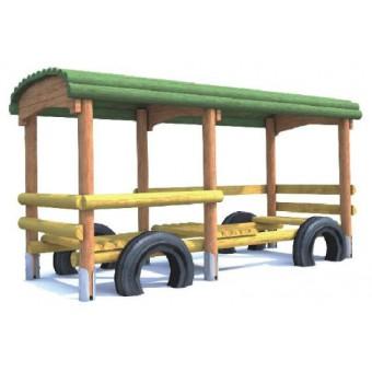 Wagonik z zadaszeniem