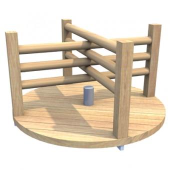 Karuzela tarczowa drewniana