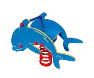 Sprężynowiec Piansport - przestrzenny bujak na sprężynie z tworzywa HDPE - delfin