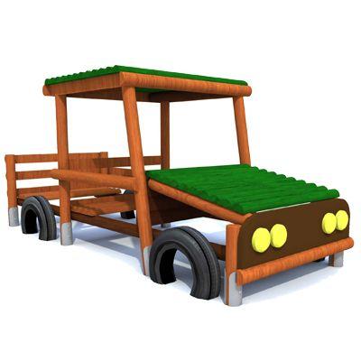 Auto - drewniane elementy placu zabaw Piansport