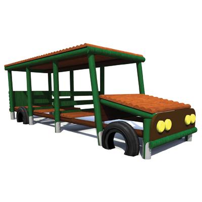 Autobus - drewniane elementy placu zabaw Piansport