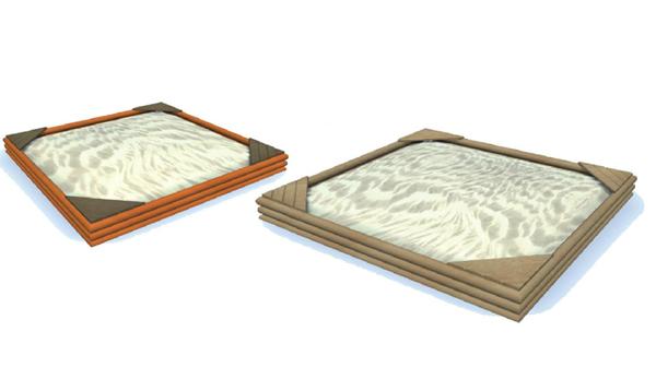 Kwadratowa piaskownica z drewna - drewniane piaskownice Piansport.